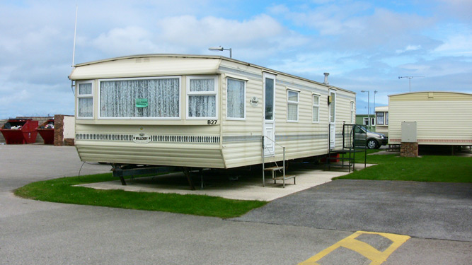 Model Static Caravan For Hire At Happy Days Caravan Park Towyn North Wales